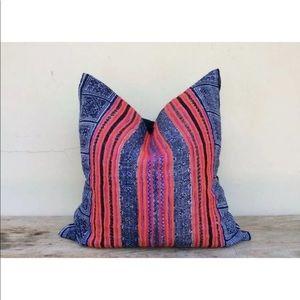 Vintage Ethnic Thailand Hmong Hemp Pillow Cover